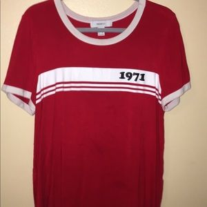 """""""1971"""" red and white shirt"""